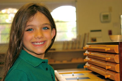 Child at our Montessori school in Pinellas County